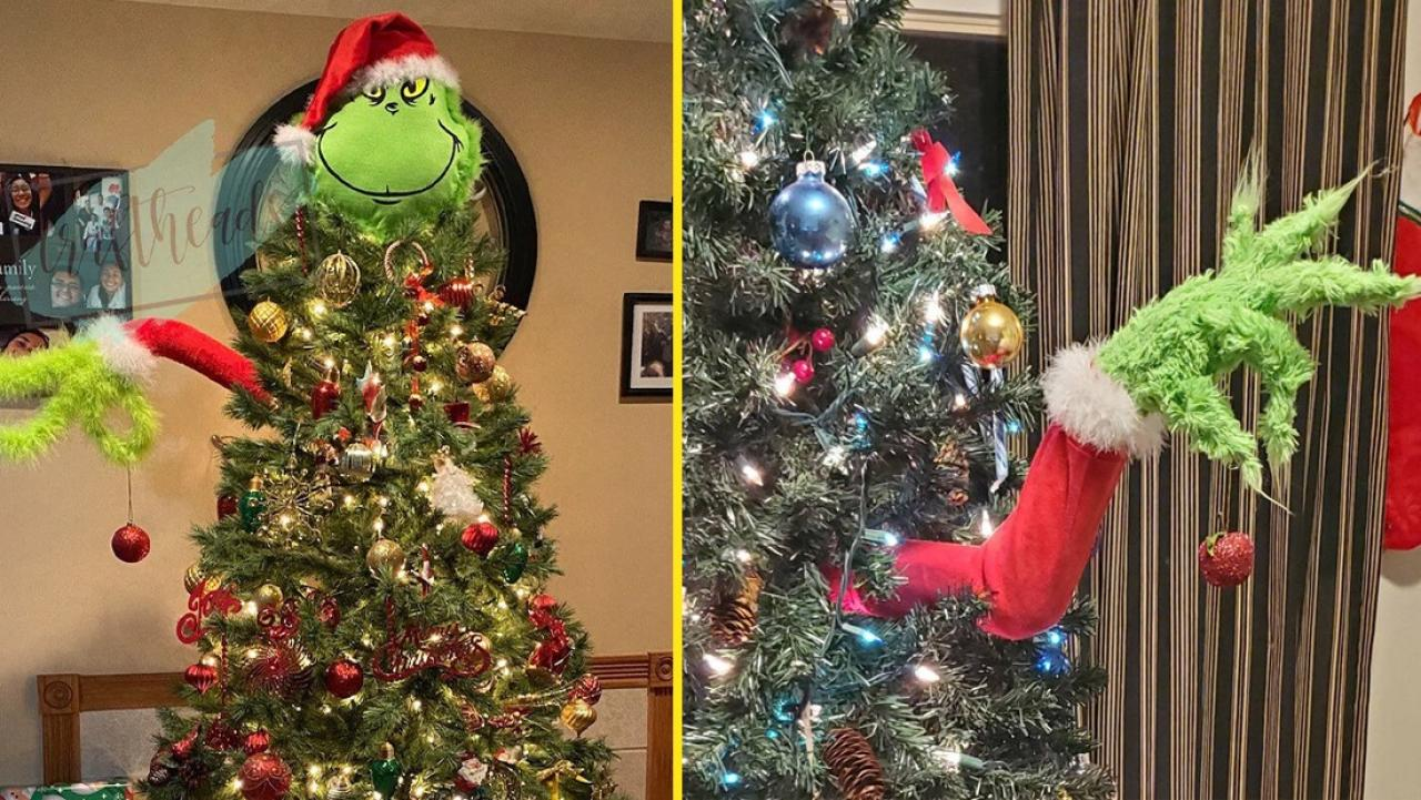 People Are Turning Their Christmas Tree Into The Grinch