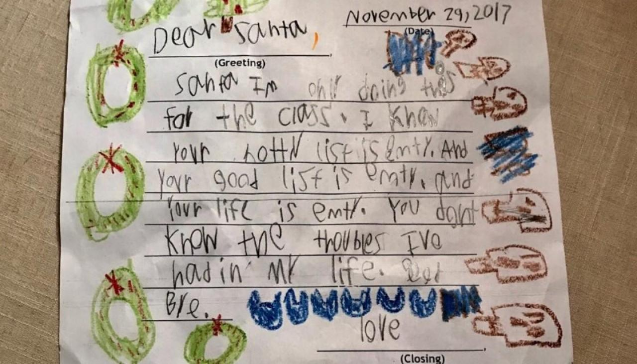 Sassy 6 year old goes viral with brutal letter to santa spiritdancerdesigns Image collections