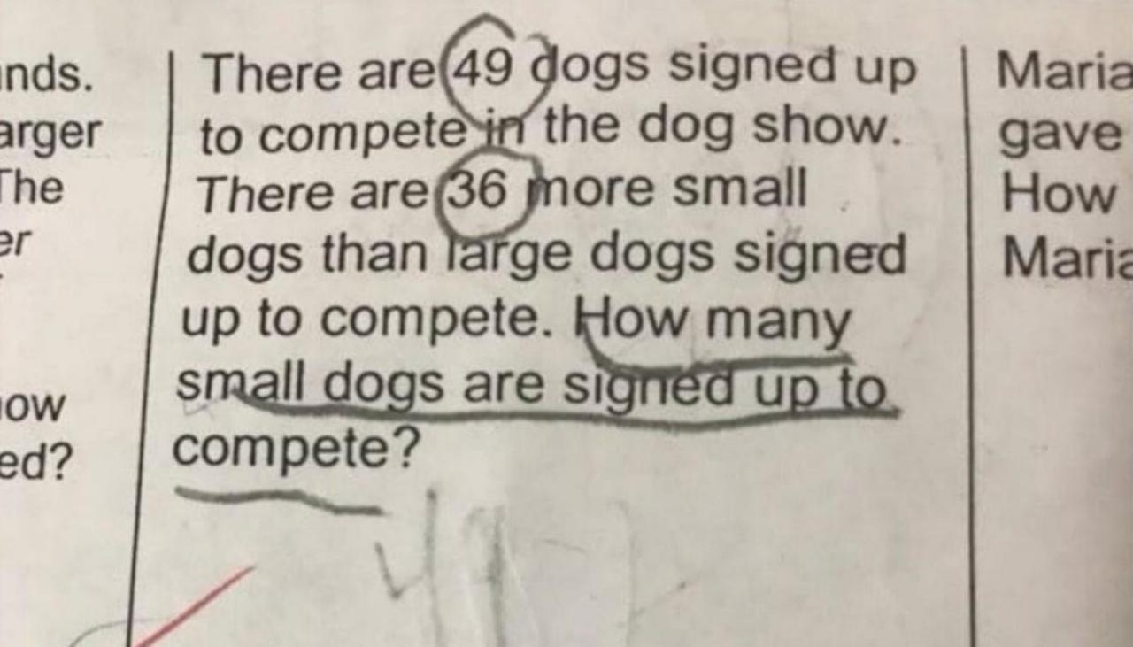 Can you solve this Year 3 maths problem that has the internet stumped?