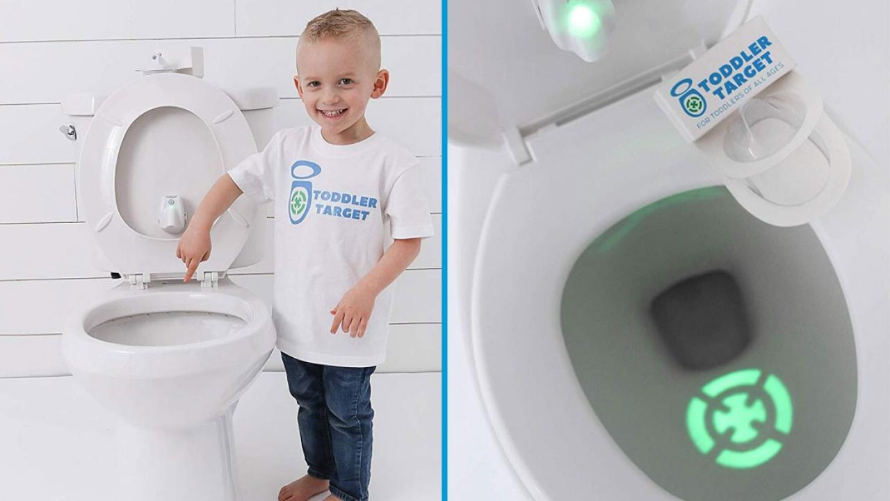 This Toilet Target Light Might Help The Boys In Your