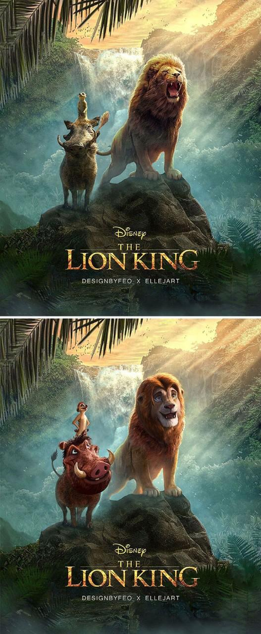 Artist Recreates New Live Action Lion King Images To Look